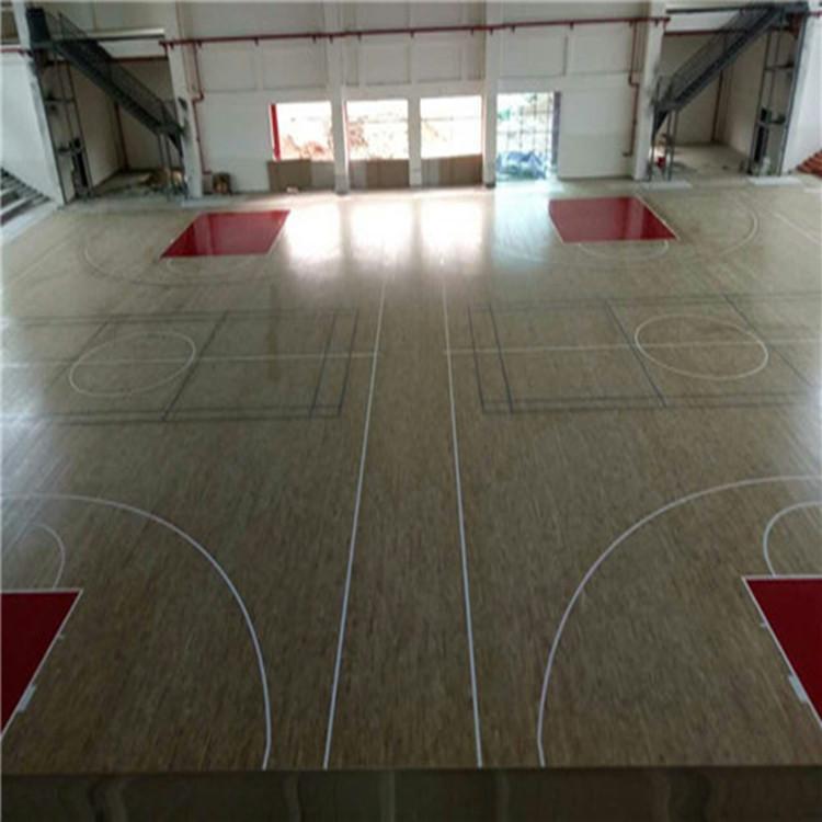 昊霖体育直销  枫桦A级运动木地板    篮球场馆运动木地板  实木运动木地板  上门安装 质保三年