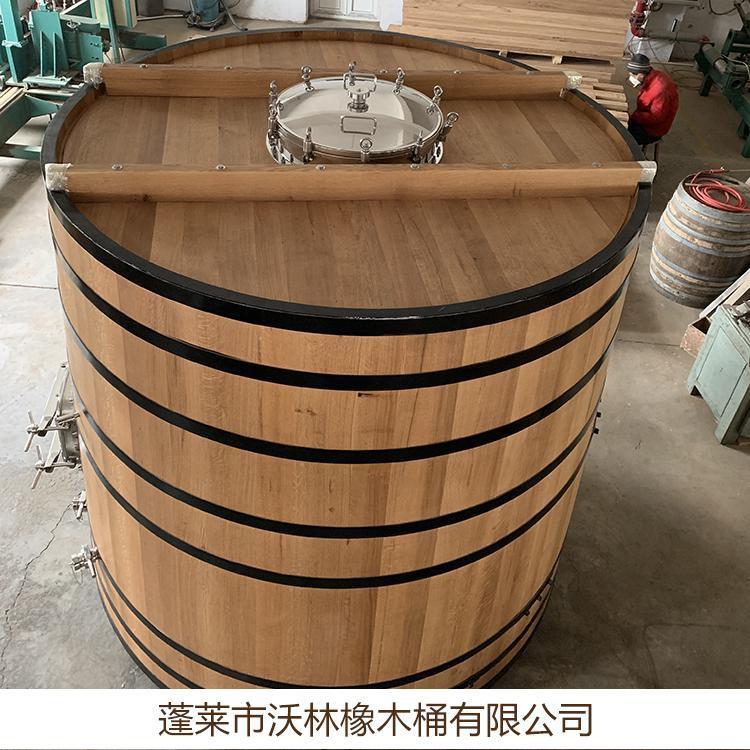 特卖高档大型橡木桶酒桶立式装饰木酒桶批发 定做三到十吨大酒桶