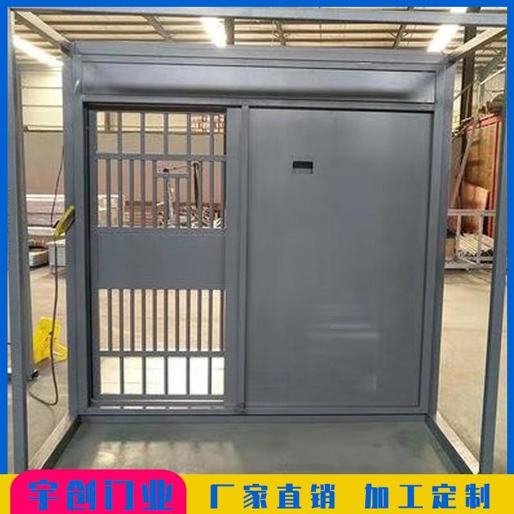 监狱门-厂家生产冷轧钢板监狱ab电动大门