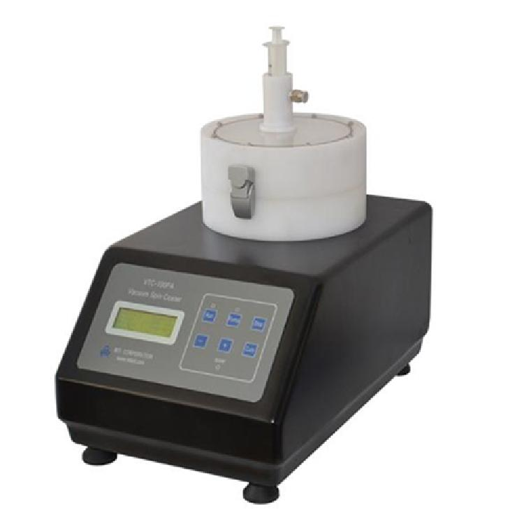 VTC-100PA型 真空旋转涂膜机 真空涂覆仪 高速旋转使胶体、溶液等材料均匀地涂覆在样件表面。
