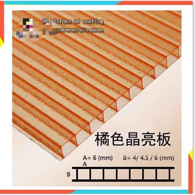 聊城沐金茶色耐力板  透光 防紫外线 厂家直销 品质保障 欢迎咨询