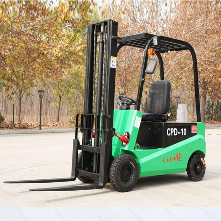四轮座驾式全电动堆高车 电瓶装卸座驾式电动叉车可加工定制