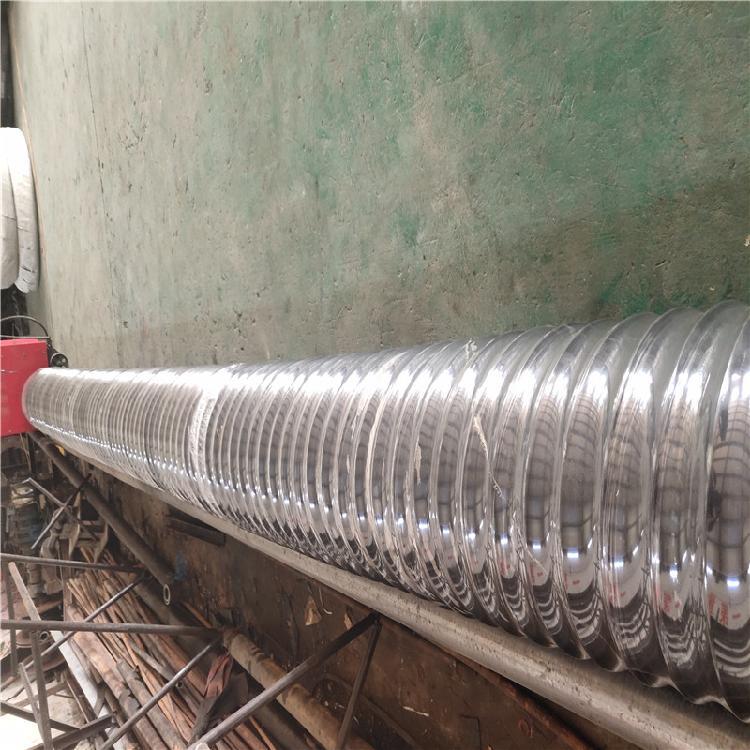 批发定制除尘用大口径橡胶钢丝伸缩软管 耐高温尼龙布伸缩软管 质量保证
