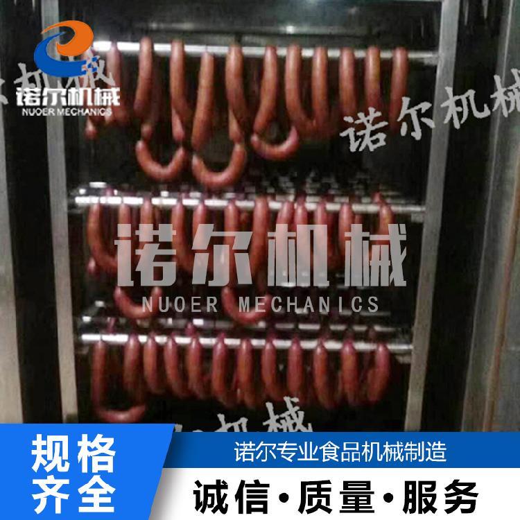 诺尔机械大红肠蒸煮烟熏一体炉 熏鸡腊肉用热风烤炉 烧鸡鱼干烟熏炉灌肠机