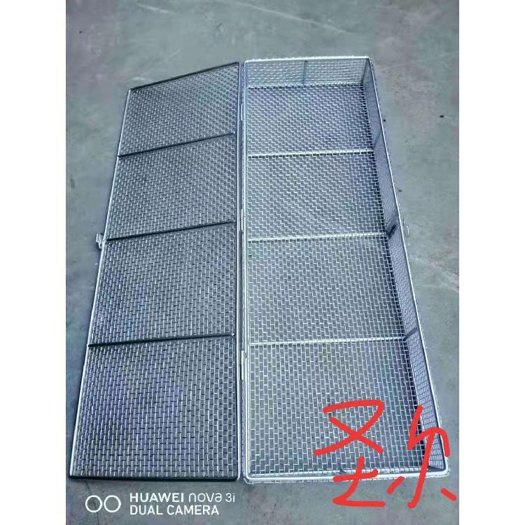 优质304不锈钢医用消毒筐可定做专业生产消毒筐304不锈钢带盖子网篮 金属网筐 清洗筐