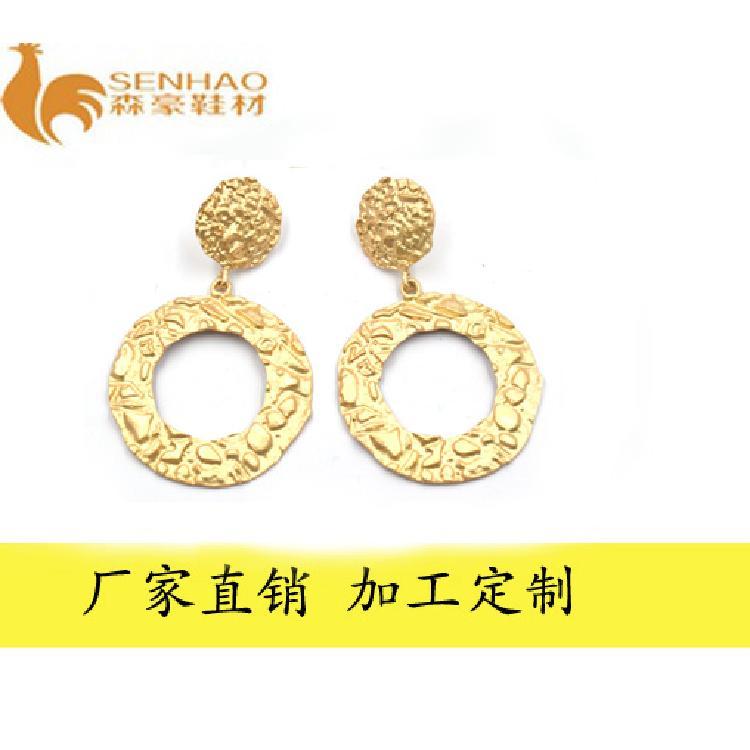 厂家定制时尚流行耳环 金属电镀饰品 森豪厂家生产网红流行精美耳环