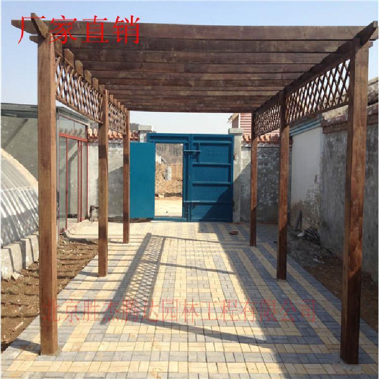 碳化木廊架厂家  碳化木廊架制作