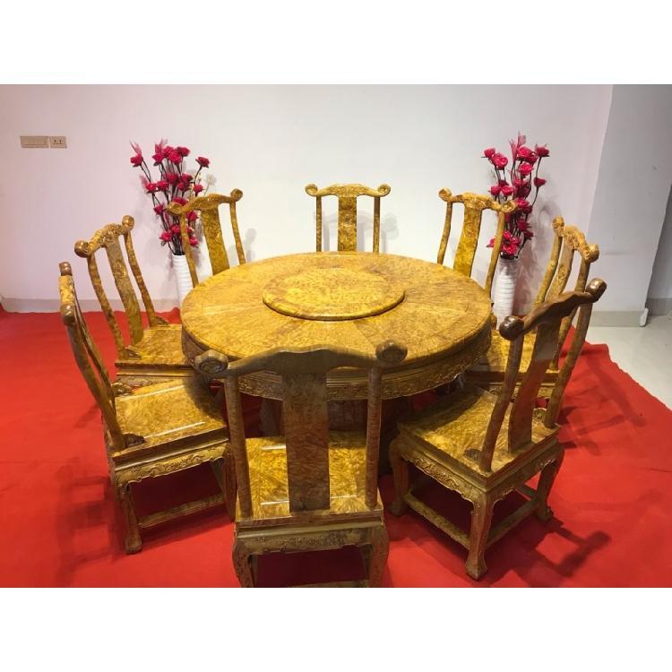 黄金樟组合红木家具餐桌
