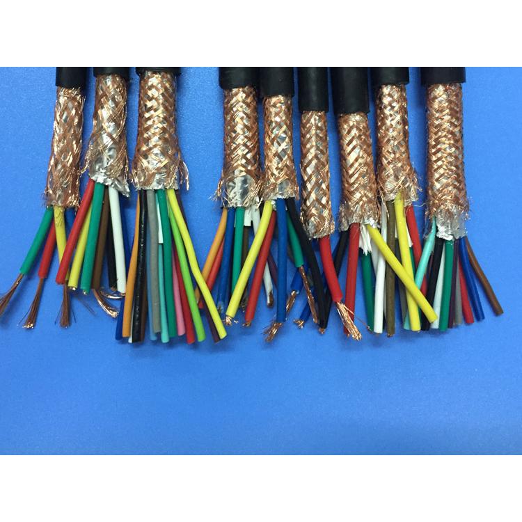 纯铜国标软线 10芯屏蔽电缆 RVVP10*0.3平方屏蔽线信号线
