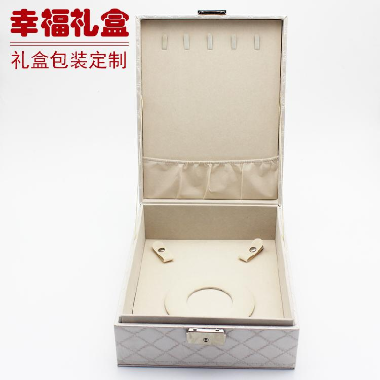 绒布盒 多种颜色珠宝首饰盒 项耳戒饰品盒多用包装盒可定做