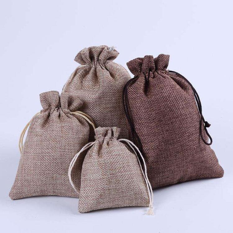 厂家定制帆布束口袋  环保抽绳束口印花全棉棉布束口袋   抽拉绳