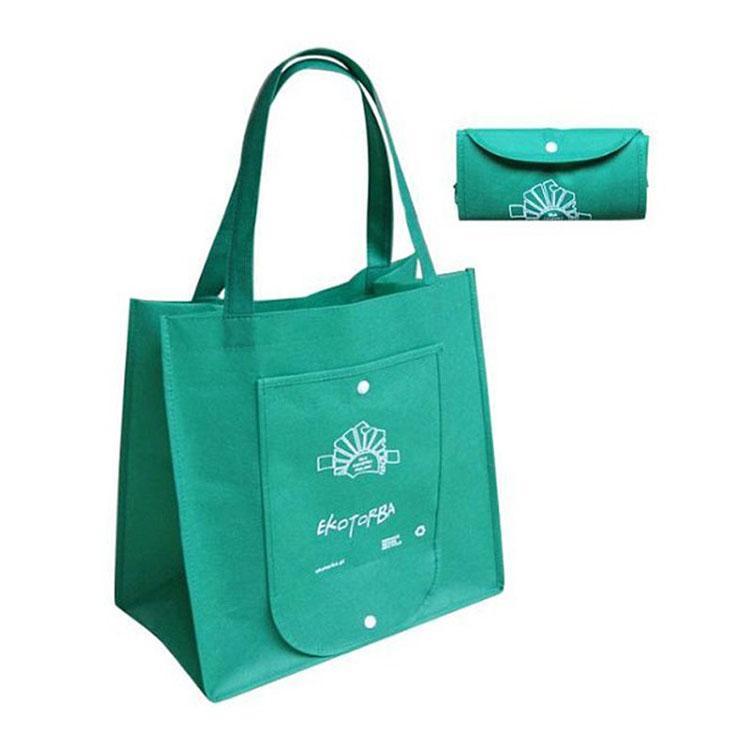 折叠环保购物袋 空白无纺布袋 覆膜手提无纺布袋批发