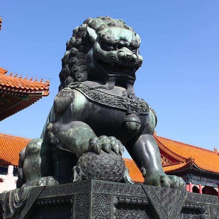 厂家供应门口石狮子摆件  汉白玉石狮子雕刻厂家