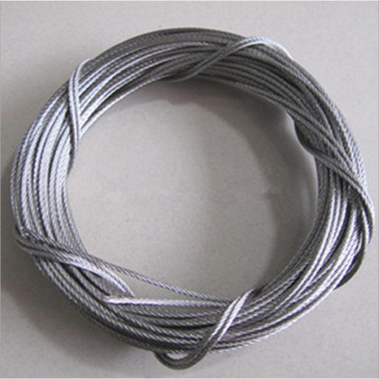 现货批发 304不锈钢钢丝绳 包胶 涂塑钢丝绳4mm包5mm黑色