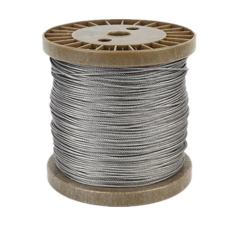 德力专业生产 不锈钢氢退丝 雾面/光亮面软丝 钢结构涂塑钢丝绳