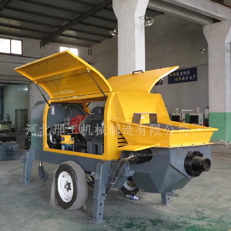 建筑工地混凝土细石输送泵 大颗粒泵灌浆泵大骨粒输送泵电动行走泵