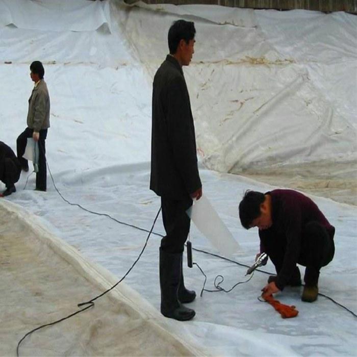 土工膜批发价格厂家加厚黑蓝色HDPE土工膜_诺联 山东厂家生产优质各类工程环保材料 欢迎致电咨询