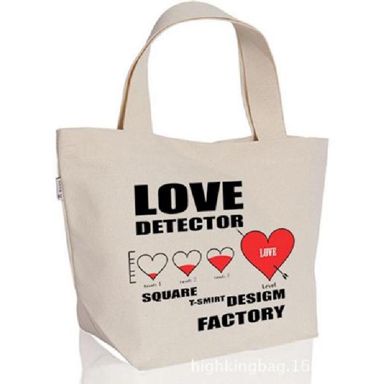 创意印花帆布购物袋定制彩印手提棉布袋现货环保帆布袋印刷logo