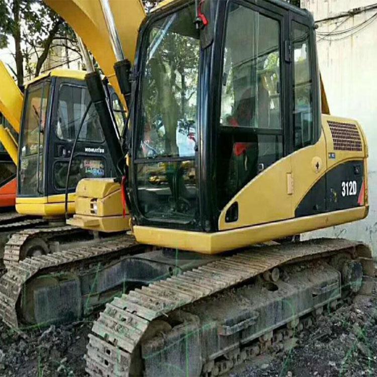 二手卡特312D挖掘机  二手挖土机交易市场