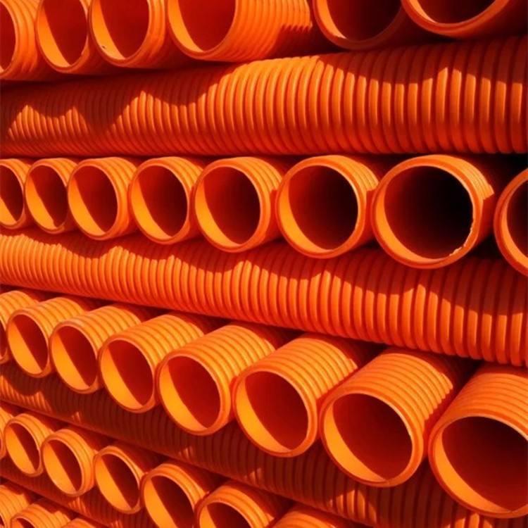 西双版纳pvc电缆保护套管聚氯乙烯双壁波纹管价格
