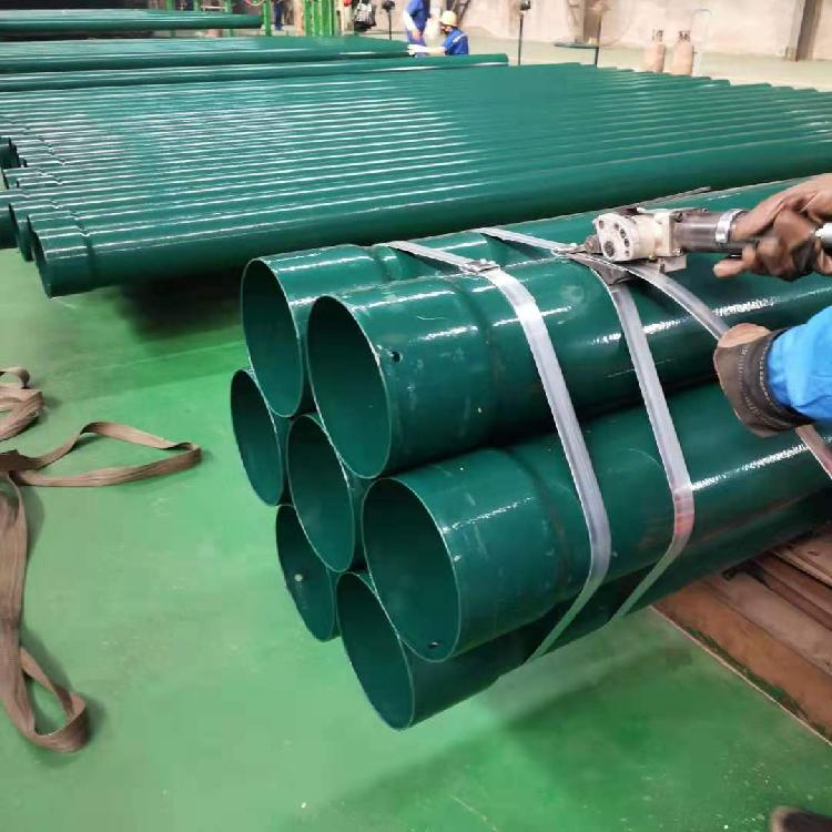 【磊泰】涂塑钢管厂家  DFPB重防护电缆保护管  穿线管  DFPB双金属重防护电力护桥管