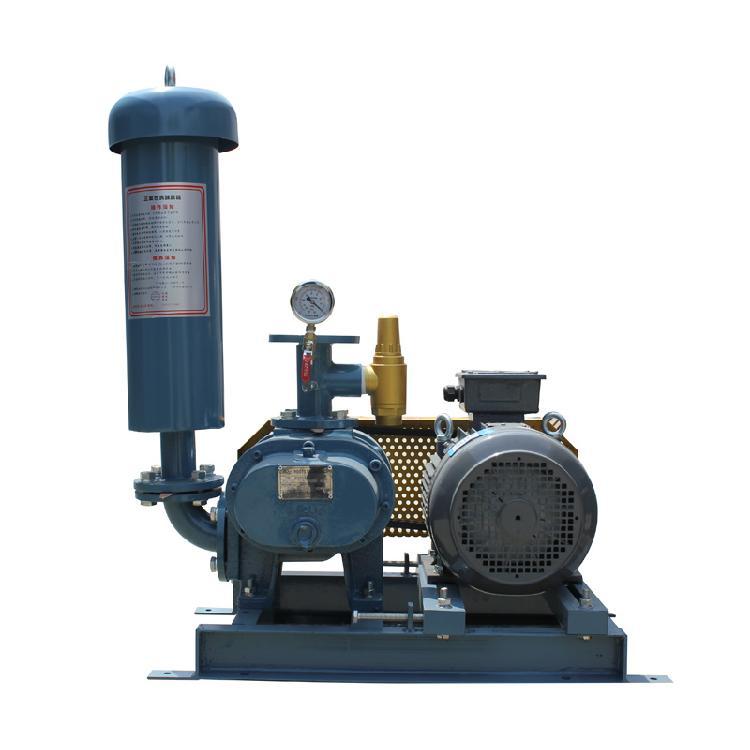 7.5KW真空罗茨鼓风机 罗茨真空泵 污水处理罗茨风机