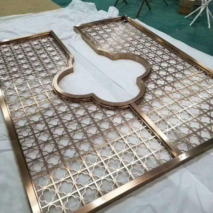 江苏不锈钢屏风花格生产厂家-佛山汇如源-不锈钢花格屏风