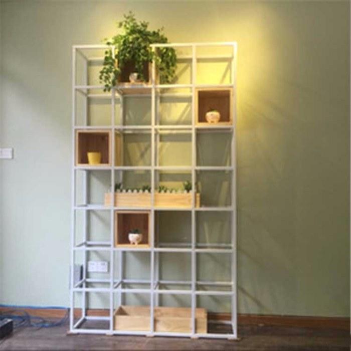 loft小户型客厅多层落地式展示架 北欧铁艺花架  阳台花架组合