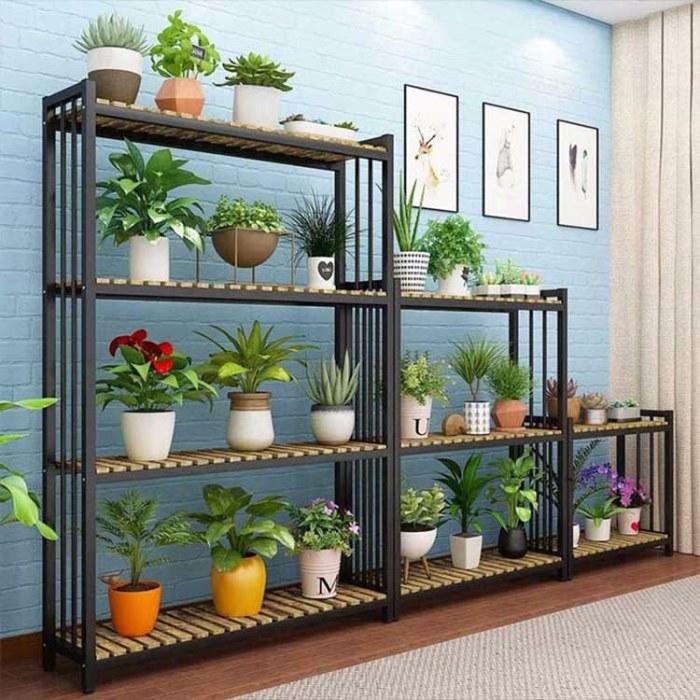 办公室客厅隔断实木格子  展示架室内花架定制 北欧铁艺落地式置物架