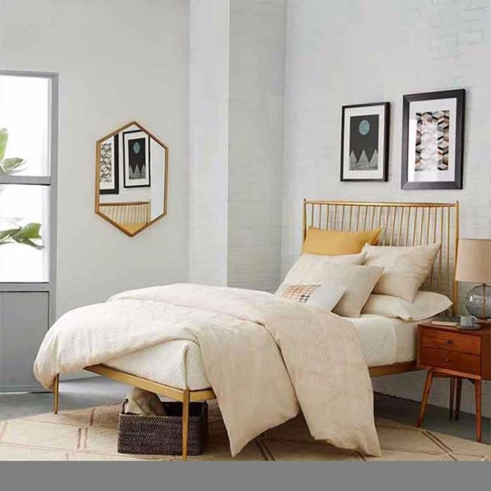 厂家直销学生宿舍上下铺铁床 员工公寓床高架床 工地用床