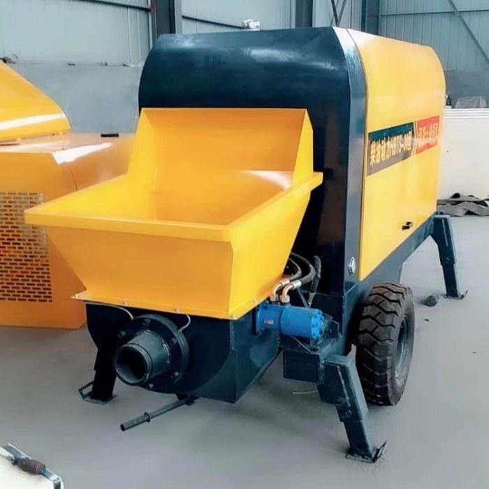 卧式二次构造柱泵厂家 新型细石砂浆泵供应 工地电动翻斗车 30型混凝土输送泵厂家 砂浆喷涂机报价
