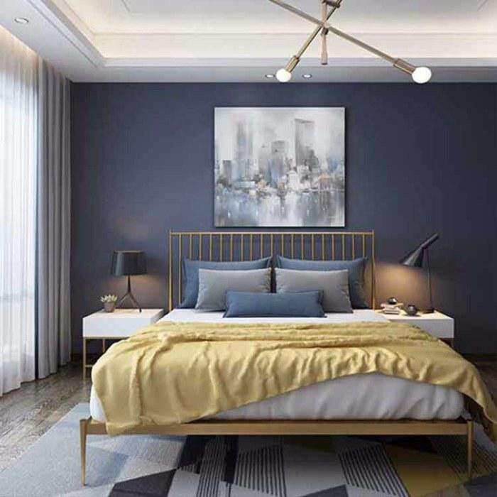 旅馆酒店金属床  现代简约铁艺床 家用卧室公寓床 1.8米双人铁架床