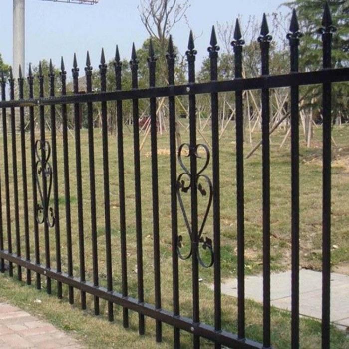 厂家定制生产厂区铁艺护栏成品铁艺围栏小区围墙栅栏喷塑栏杆现货