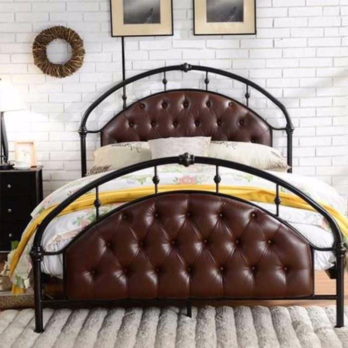金色床别墅高档床 简约铁艺 双人床 1.2米1.5米1.8米金属床