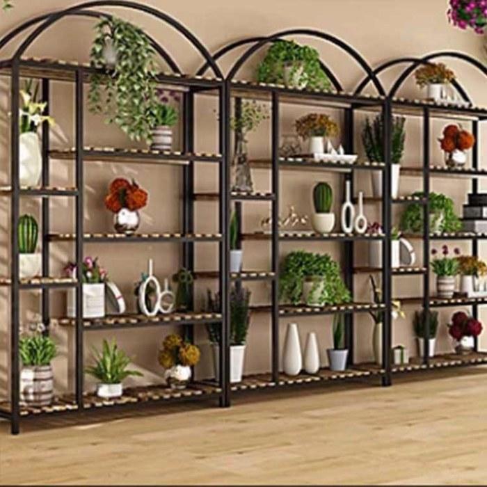 展示架阳台花架组合 北欧铁艺花架 loft小户型客厅多层落地式盆栽