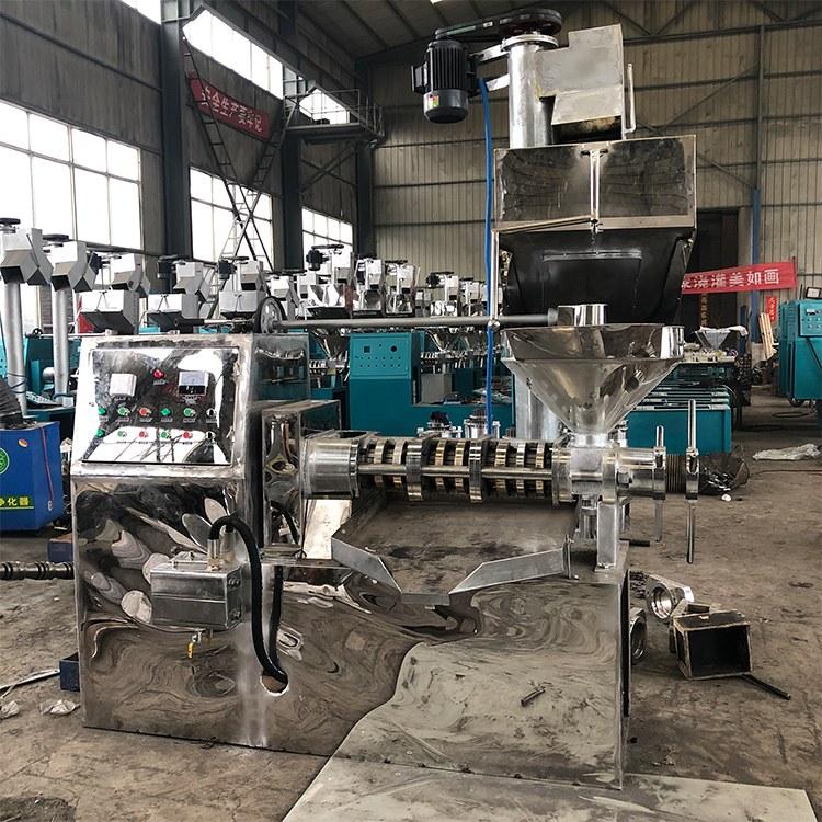 全自动商用榨油机 橄榄榨油机流水线设备 万丰厂家现货