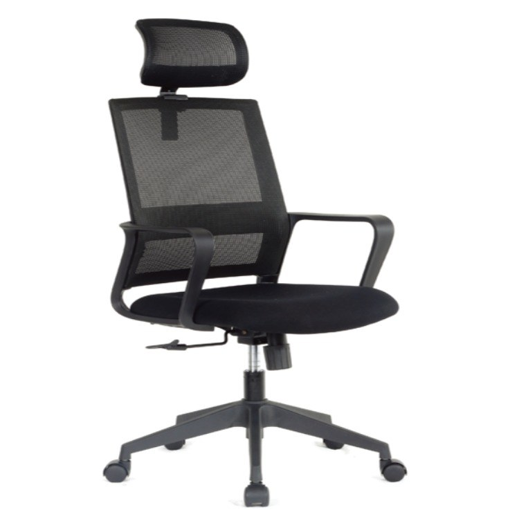 黑色高背椅 家用网面办公椅护腰椅子高背椅办公室转椅 伟之豪