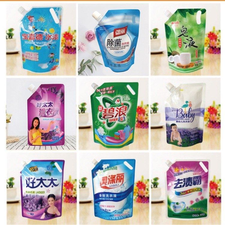 厂家直销自立吸嘴袋 2kg 500g 现货洗衣液包装袋定制洗衣液