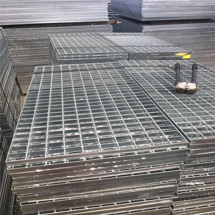 六畅热镀锌插接排水沟盖钢格栅板雨水篦子齿形防滑平台格栅板