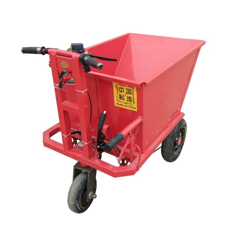 协丰机械 建筑工地电动手推车 骑行灰斗车 搬运拉砖搬运车 水泥石子沙子小推车价格
