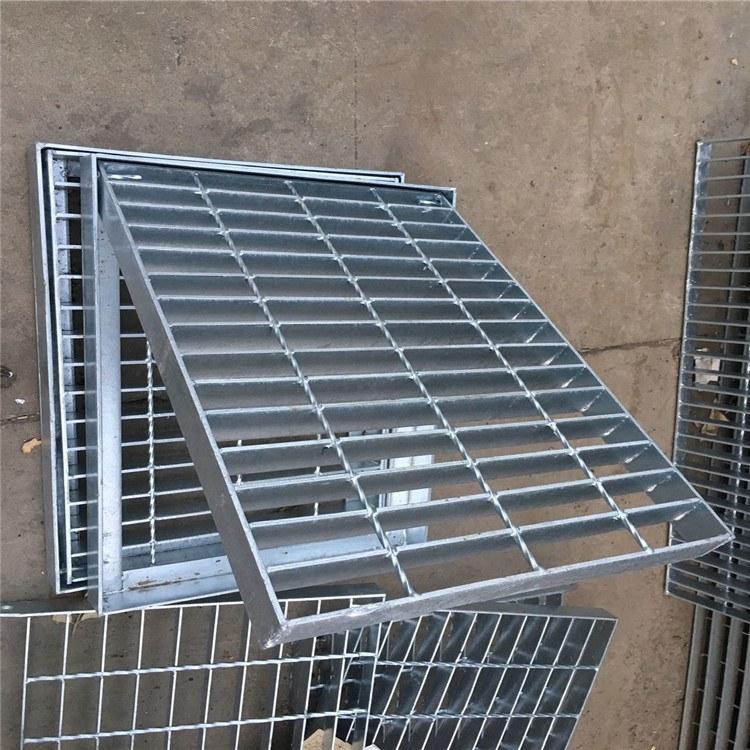 【六畅】镀锌排水沟盖板  钢格栅厂家直销 集水坑盖板
