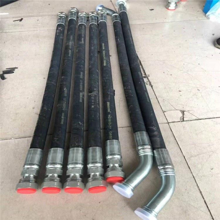 加工定制工程机械专业胶管 自卸车液压油管 高压钢丝编织胶管批发