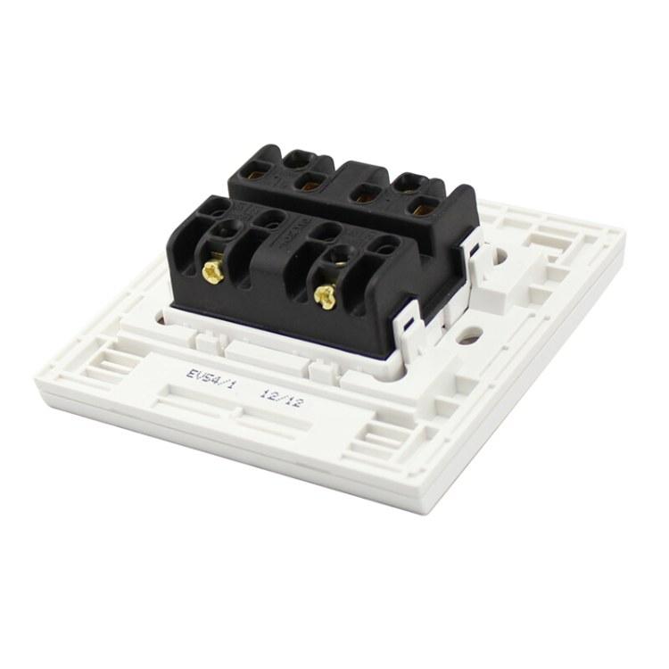 施耐德电气 家用开关插座面板 EV54/1 如意系列 四开双控 施耐德电气批发零售