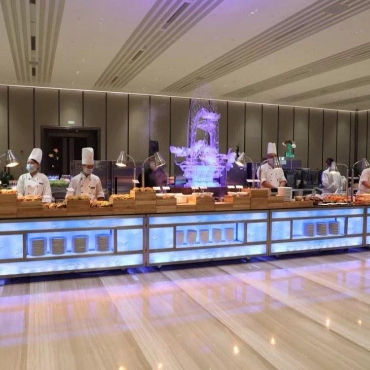 广州尊尚厂家直销灯光布菲台 西餐布菲台 西餐移动餐台