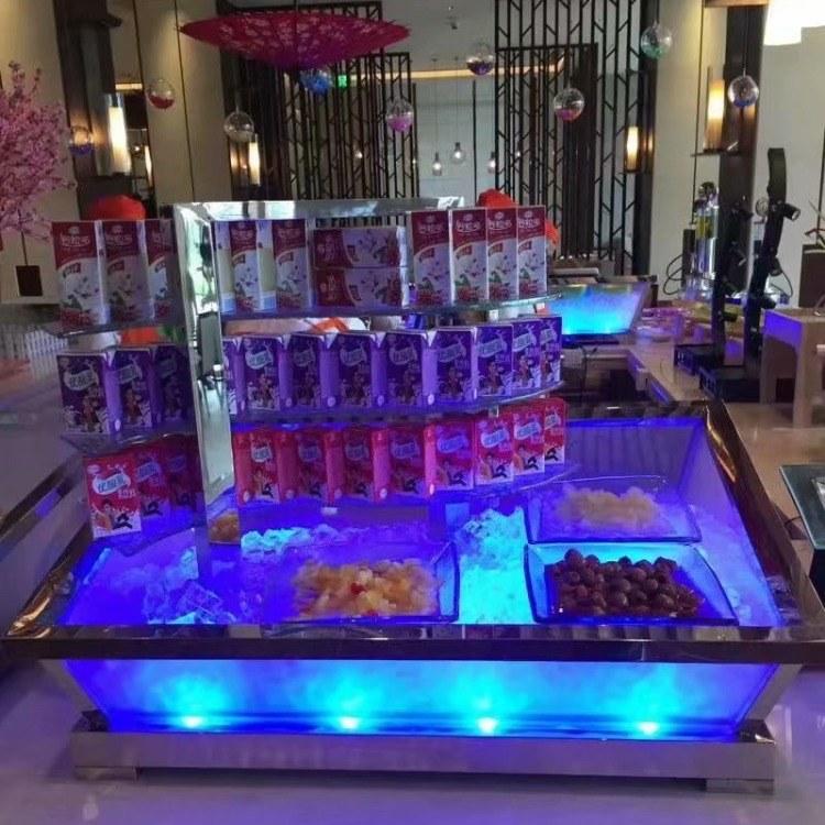 广州尊尚厂家直销 冰槽 LED灯光冰槽 海鲜冰槽