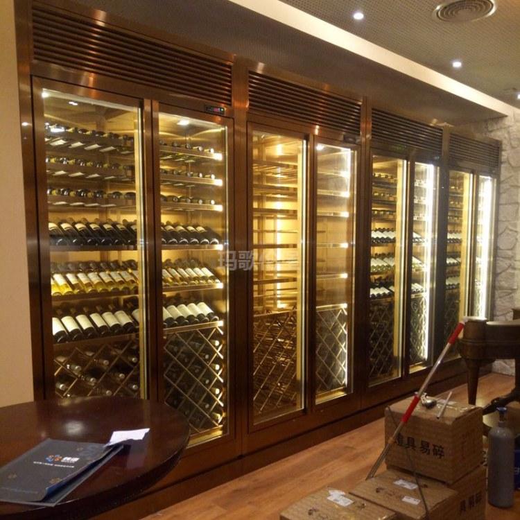 恒温红酒柜-不锈钢恒温红酒柜-不锈钢酒架-玛歌伦堡酒柜