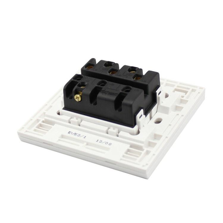 施耐德电气 面板开关 家用开关插座面板 EV53 如意系列 三开双控 施耐德电气厂家直销