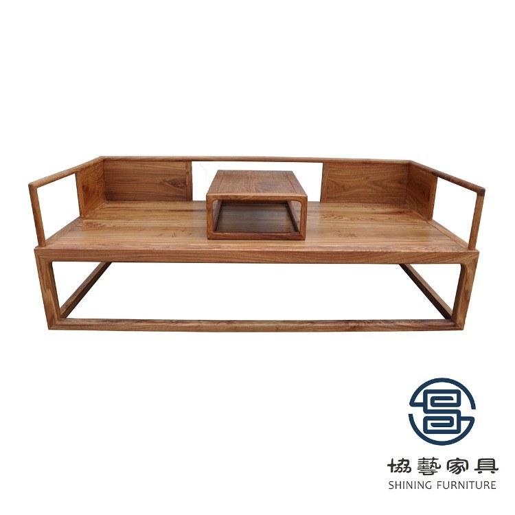 新中式实木沙发组合贵妃现代榆木沙发床小户型三人位客厅整装家具花梨木中式家具