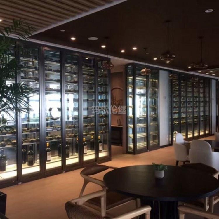 不锈钢红酒柜厂家定制 厂家直销 现代简约风酒柜 玛歌伦堡