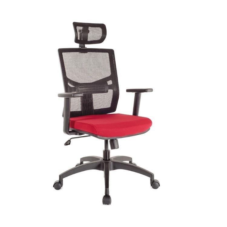 电脑椅家用公司红色高背椅 透气老板升转椅弓形网椅子 伟之豪